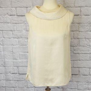 Talbots Tops - Talbots Silk Cowl Neck Sleeveless Ivory Top
